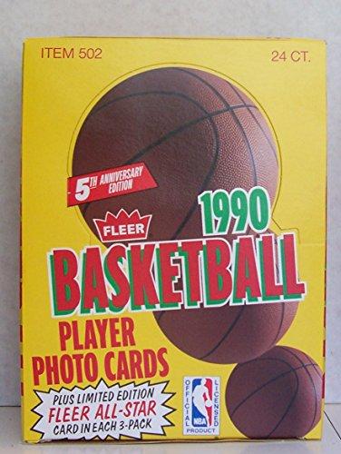 1990-1991 FLEER BASKETBALL RACK BOX 2 JORDAN ALL STARS MINT PACKS FRESH FROM CASE