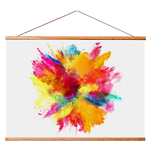 "Landmass 40x30 40x27 40x20 Wood Hanger Frame for Posters and Prints. 40"" Wide Magnetic Poster Frame. Wall Hanging for Photos, Pictures and Artwork."