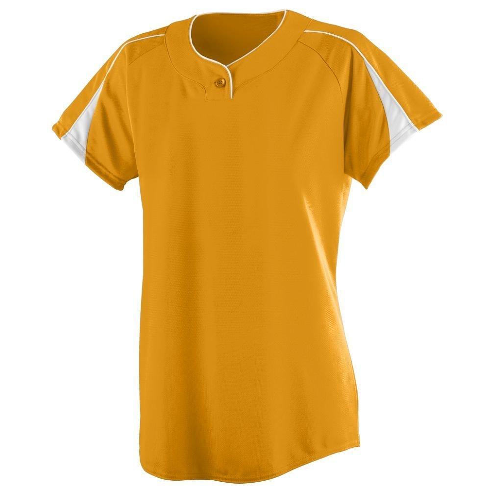 Augusta SportswearレディースダイヤモンドSoftball Jersey B004ORQANG Large ゴールド/ホワイト ゴールド/ホワイト Large