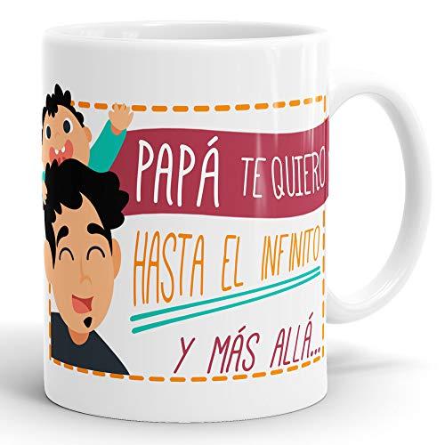 REGALOS ESTRELLA AZUL Taza dia del Padre Regalo para Papa, Papa te Quiero, al Mejor papa del Mundo, Regalos Padres, Regalos dia del Padre, te Quiero Papa, Taza con Frases (Papa te Quiero)