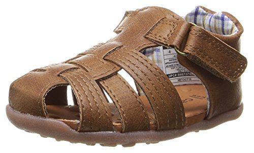Stage 3 Sandal - Carter's Every Step Stage 3 Girl's and Boy's Walking Shoe, Addison, Brown, 4 M US Toddler