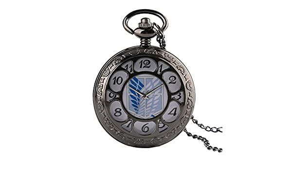Amazon.com: CHITOP Unique Pocket Watch Attack on Titan Scouting Legion Survey Corps Cosplay Pocket Watches for Men Women reloj Mujer Gifts: Cell Phones & ...