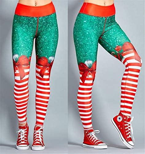 [ジンニュウ] レディース フィットネス パンツ ヨガレギンス ヨガパンツ ロングレギンス ハイウエスト スポーツ 吸汗速乾 美脚 クリスマス