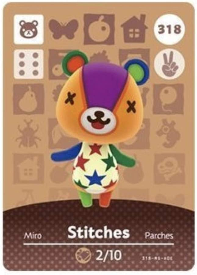 No.318 Stitches Animal Crossing Villager Cards Series 4. Third Party NFC Card. Water Resistant