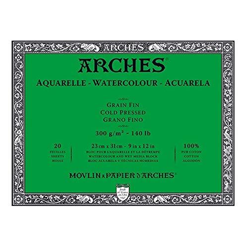"""Arches Watercolor Block, Cold Press 9""""X12"""""""