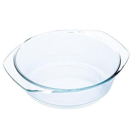 Blaumann-Fuente para horno y microondas, vidrio redondo de 0,7 L ...