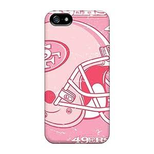 Iphone 5/5s FDZ3055juhE Customized Realistic San Francisco 49ers Image Protector Hard Phone Cases -DannyLCHEUNG