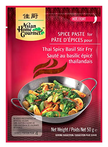 Asian Home Gourmet: Thai Spicy Basil Stir Fry (Pack of 12) (Best Spices For Stir Fry)
