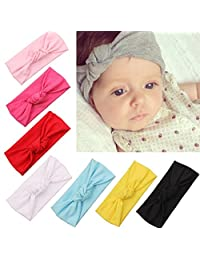 Naisidier Baby Girl Headbands Newborn Toddlers Headwear, Cute Head Wrap with Hair Bow