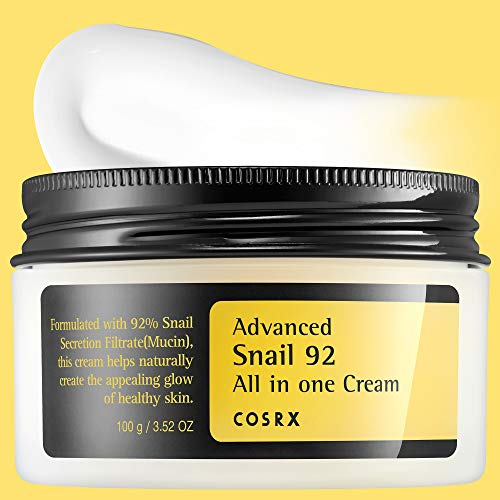 COSRX Advanced Snail 92 All in one Cream, 3.53 oz / 100g | Snail Secretion Filtrate 92% for Moisturizing