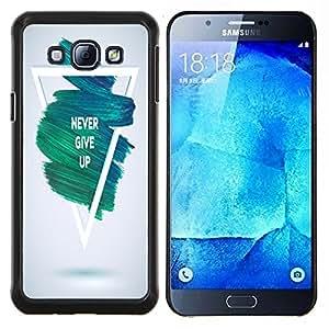 Dragon Case - FOR Samsung Galaxy A8 A8000 - never give up - Caja protectora de pl??stico duro de la cubierta Dise?¡Ào Slim Fit