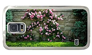 Hipster Samsung Galaxy S5 Case poetic wall flowers PC Transparent for Samsung S5 by runtopwell