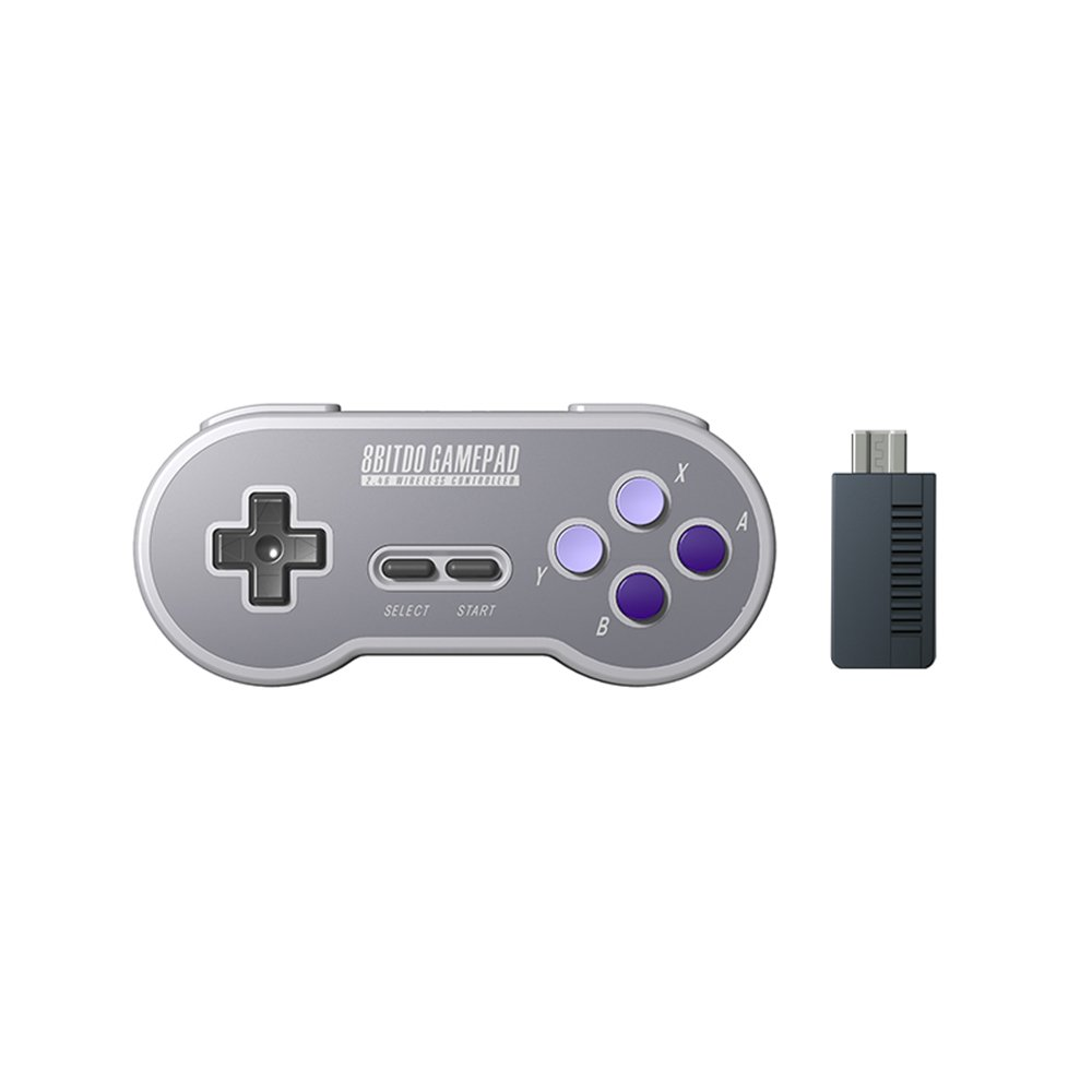 HIOTECH Wireless Controller 2.4GHz Wireless 8Bitdo SN30 Classic Video Game Joystick Gamepad for Super NES / SFC / SNES Classic Edition (Purple)