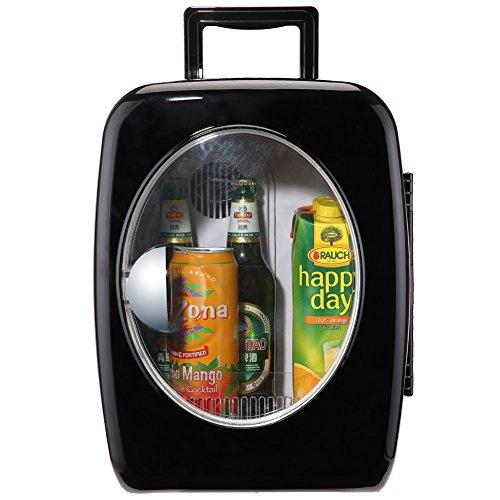 Generic 12V Portable Traveling Camping Mini Fridge Car Truck Beverage Soda Cooler and Warmer 110V Electric Compact Milk Refrigerator with Glass Door-Black (Big Chill Fridge)