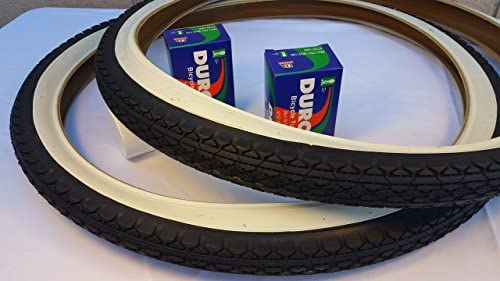 ONE HIGH QUALITY BLACK WHITE WALL TIRE AND ONE  INNER TUBE 26x2.125 57-559