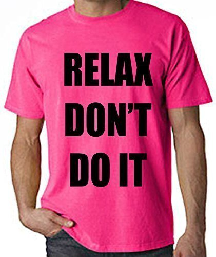 Relax Don't Do It Neon 80s Slogan T-shirt, green or pink
