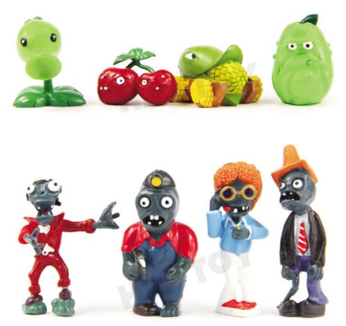 Homemade Hot Rod Costume (Shalleen Hot! Lot of 8 PCS Different Plants vs Zombies Anime Action Figures PVZ Toy NO.A)
