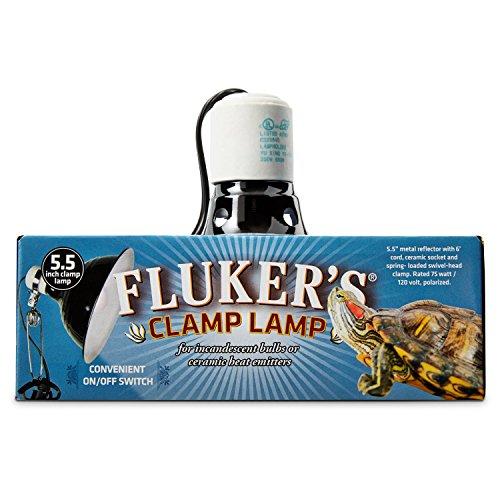 Fluker's Turtle Clamp Lamp, 75 W ()
