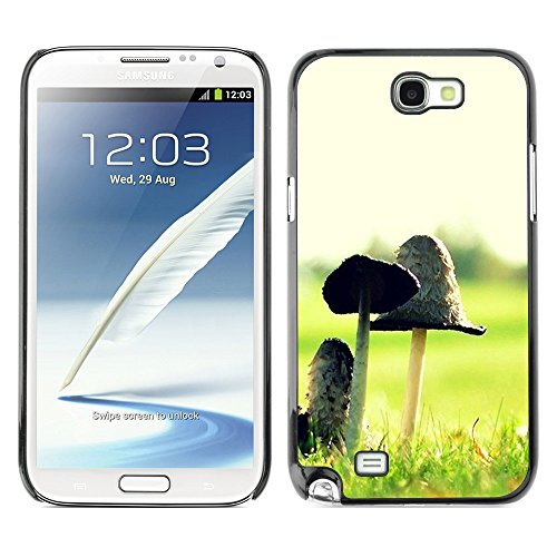 Soft Silicone Rubber Case Hard Cover Protective Accessory Compatible with SAMSUNG GALAXY NOTE 2 & N7100 - Plant Nature Forrest Flower 12