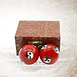 1.5'' Health Hand Balls Carved Tai Chi Pattern