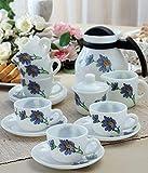 La Opala 15 Pcs Coffee Cup & Pot Set, Tea Cup & Pot set by Umath