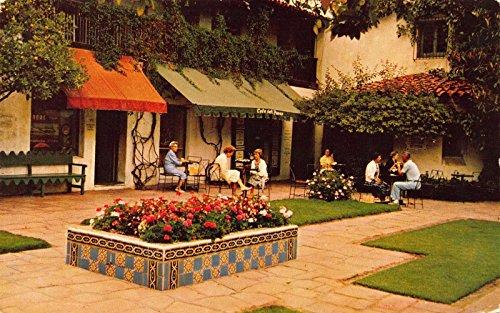Postcard Coffee Shop Fountain Cafe Del Paseo Santa Barbara - California Paseo