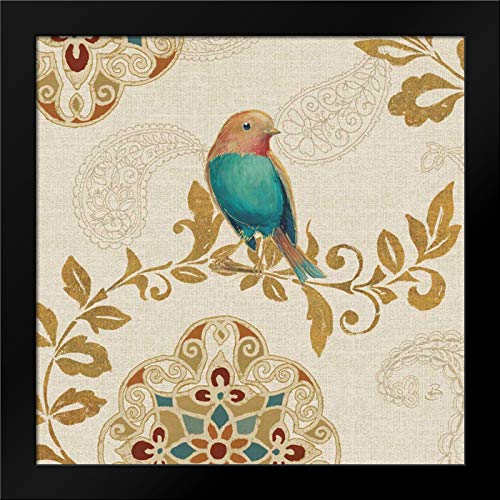 Bird Rainbow Teal Framed Art Print by Brissonnet, Daphne