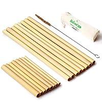Organic Reusable Bamboo Straws with Coconut Fiber Brush 8.7