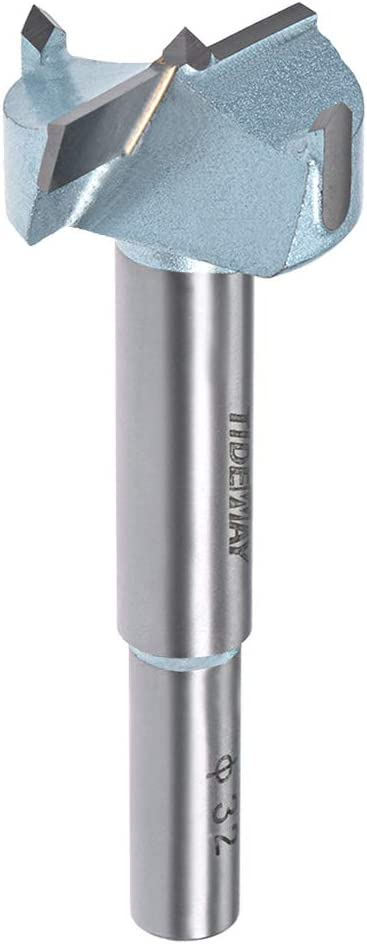 uxcell 26mm Hinge Boring Forstner Drill Bit with 10mm Round Shank