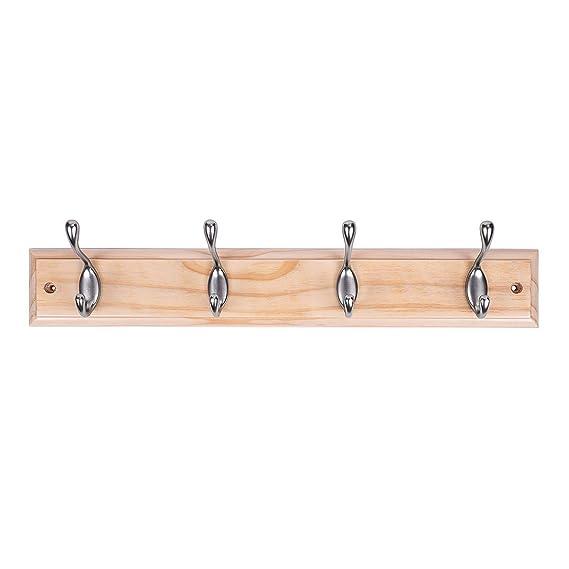 Amazon.com: DOKEHOM - Perchero de madera con 4 y 6 ganchos ...