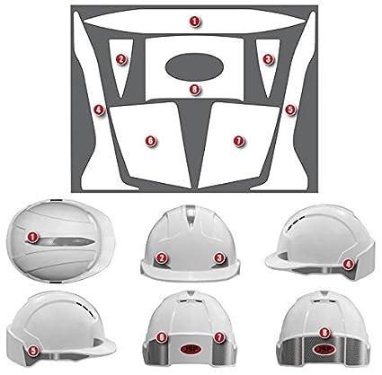 JSP ahv391 - 002-900 TecGadgets EVO 3 casco juego de plata) [tamaño