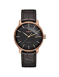 Rado Men's Coupole Classic 41mm Brown Leather Band Rose Gold Plated Case Automatic Analog Watch R22877165