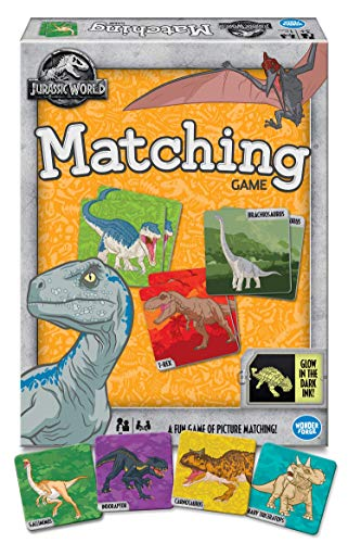 Wonder Forge Jurassic World Matching for Boys & Girls Age 3 to 5 - A Fun & Fast Dinosaur Memory Game You Can Play Over & Over Game (Game Matching Wonder Forge)