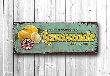 Amazon.com: Lemonade Metal Sign, Kitchen Décor, Vintage ...