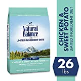 Natural Balance L.I.D. Limited Ingredient Diets Dry Dog Food, Chicken & Sweet Potato Formula, 26 Pounds, Grain Free