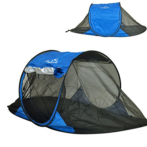 Free-Standing Instant Pop-Up Mosquito / Bug Tent with UPF 100+ Removable Ceiling for 2 person