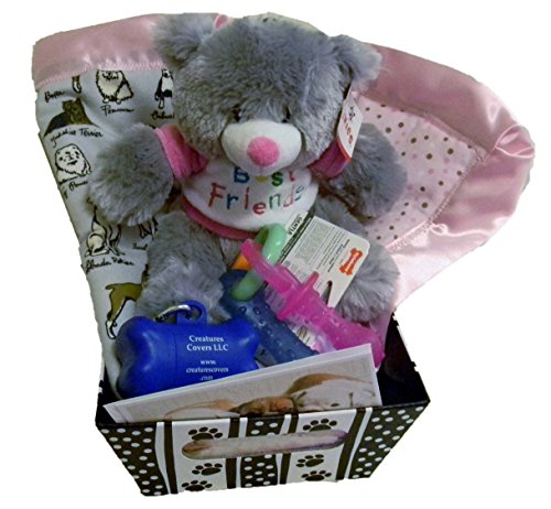 Welcome New Puppy gift basket - Pink