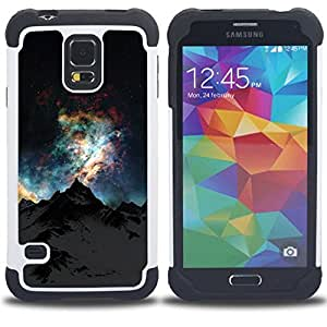 - night sky mountain Alaska universe - - Doble capa caja de la armadura Defender FOR Samsung Galaxy S5 I9600 G9009 G9008V RetroCandy