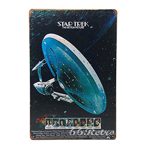 66Retro Star Trek: The Motion Picture (1979), Vintage Retro Metal Tin Sign, Wall Decorative Sign, 20cm x 30cm (Trek Cola Star Coca Poster)