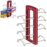 YouCopia StoreMore Adjustable WrapStand Kitchen Wrap Organizer Red 2-Pack