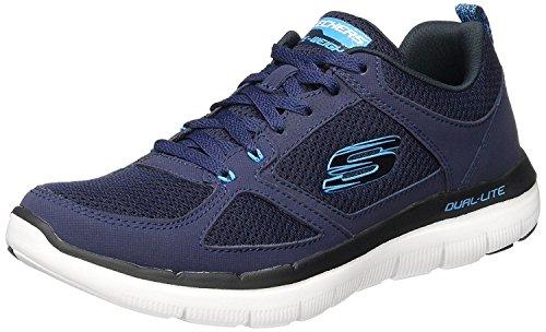 Skechers Flex Advantage 2.0 Navy White Mens Trainers Shoes-9