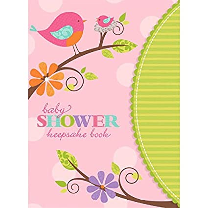 Amazoncom Tweet Baby Girl Baby Shower Party Keepsake Book Favour