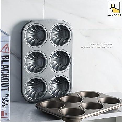 ... de 6 sartenes de cobre con revestimiento de cerámica, antiadherentes, aptos para hornear, lavavajillas y horno, libre de PTFE/PFOA: Amazon.es: Hogar