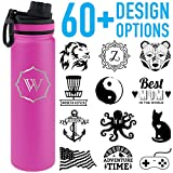 Tempercraft 22oz Vacuum Insulated Sport Bottle Custom Engraved, Pink Deal (Small Image)