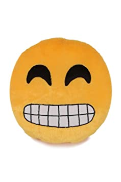 Deals India Grinning Face With Smiling Eyes Smiley Cushion(SmileyG)