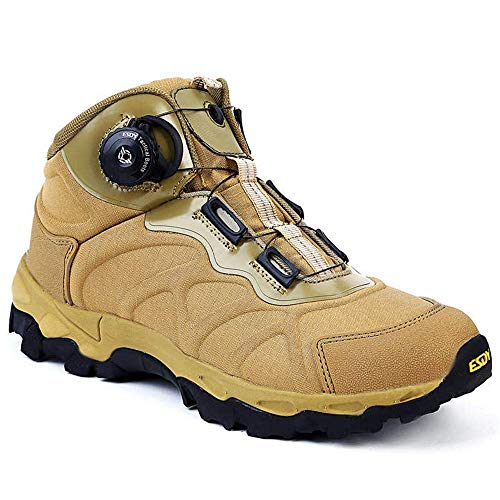 (NEW VIEW Military Men BOA Lacing System Tactical Boots Quick Reaction Shoes Hiking Shoes Male Sports Shoes (Color : 03, Size : 9.5))