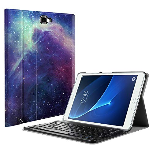 Fintie Samsung Galaxy Tab A 10.1 (NO S Pen Version) Keyboard Case, Slim Lightweight Stand Cover with Magnetically Detachable Wireless Bluetooth Keyboard for Galaxy Tab A 10.1 Inch, ()