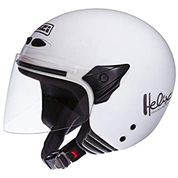 NZI 050137G001 Helix II Jr Casco de Moto, Color Blanco, Talla 52-53