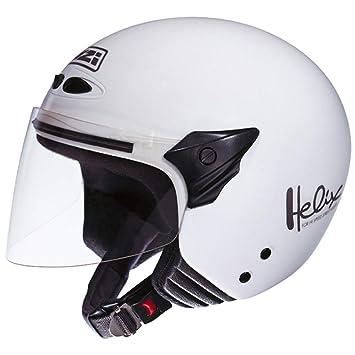 NZI 050137G001 Helix II Jr Casco de Moto, Color Blanco, Talla 52-53