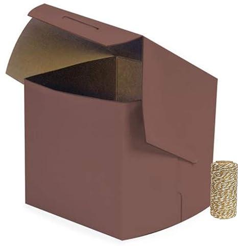 cajas de cartón non-window 4 x 4 x 4 para pasteles, Cupcakes